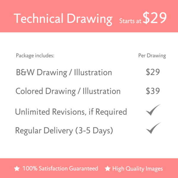 Technical Drawing Illustration